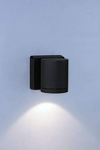 Bruck Lighting 105015bk Cylinder-Outdoor 1-Light LED Wall Sconce-Anthracite Finish