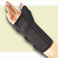 (FLA Professional Wrist Splint with Abducted Thumb. Black. Medium. Right )