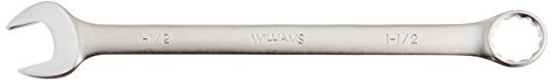 Williams 11148 12 Point Combination Wrench, 1-7/16-Inch, Satin Chrome Finish
