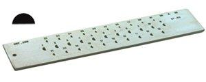 HALF ROUND STEEL DRAWPLATE; 20-HOLE 1.0-3.0 mm