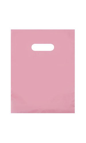 9 x 12 Frosted Extra Thick 2.5 mil Merchandise/Gift Bag with Die-Cut Handles (Pack of 25) -