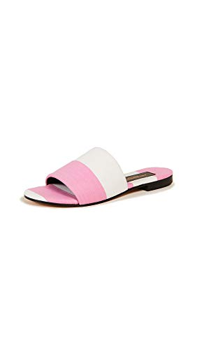 AVEC MODERATION Women's Monaco Slide Sandals, Riviera Pink, 40 M EU ()