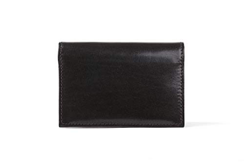 (Bosca Old Leather Collection-Gusseted Card Case, Black)
