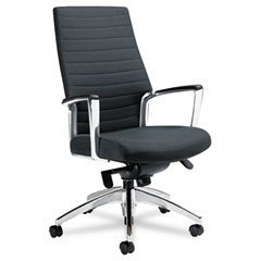 GLOBAL Accord Series High Back Tilt Chair, Leather/Mock Leather, Black (Case of 2)