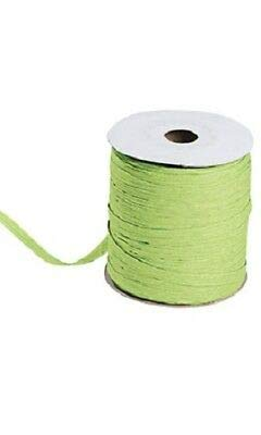 Jungle Green Matte Raffia Ribbon Gift Wrap Wedding 1/2'' Wide 500 Yards Bow by retail-warehouse