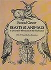 Beasts and Animals in Decorative Woodcuts of the Renaissance, Gesner, 048624430X