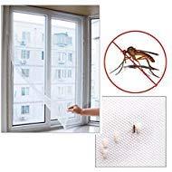 Window Mosquito Net - Window Mesh Net - Window Mosquito Netting Net Window - Mosquito Net For Windows - Insect Fly Mosquito DIY Door Net Netting Mesh Screen (White), Sticky Nylon Tape Net Protector