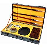 Ladnis Chinese Calligraphy Set Four Treasures Brush/Inkstone/Inkstick/Paperweight for Writing/Painting Beginner and Lovers of Chinese Calligraphy with Gift Box