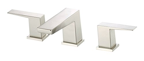 (Danze D304162BN Mid-Town Two Handle Widespread Lavatory Faucet, Brushed Nickel)