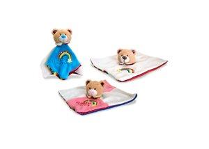 Keel Toys Rainbow Nursery Teddy Couverture Doudou pour Bébé Bleu - 26 cm