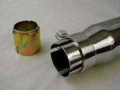 50 cms Largo y 38//45mm de di/ámetro Se Vende por Unidad Arista Enterprises Cola de Escape Universal para Moto
