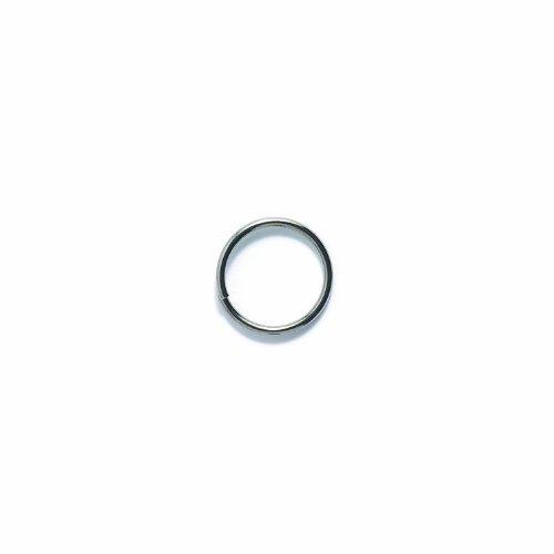 Shipwreck Beads Plated Brass Jump Ring, 14 mm, 16-Gauge, Metallic, Gunmetal, 50 gm Pack