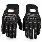 PRO-BIKER MCS-01A Skid-Proof Full Finger Motorcycle Racing Gloves - Black (Pair / M-Size)