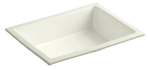 KOHLER K-2882-96 Verticyl Rectangle Undercounter Bathroom Sink, Biscuit (Caxton Kohler Biscuit)