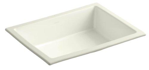 KOHLER K-2882-96 Verticyl Rectangle Undercounter Bathroom Sink, Biscuit