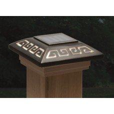 Solar Oriental Light (Deckorators DB141618 Maine Oriental Solar Labyrinth Designer Post Cap Light with Cedar)