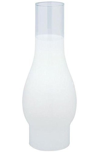 """Westinghouse 8310100 10"""" 3/4 Frosted Chimney Design Lamp Shade"""