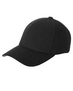 Flexfit Cool & Dry Piqué Mesh Cap - BLACK - OS