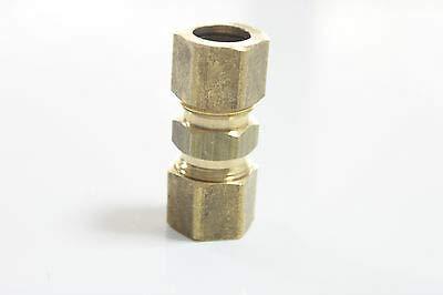 FidgetKute Pack of 400 3/16'' Compression Union,Brass Compression Fitting