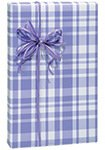 Lavender Light Purple Plaid Gift Wrap Wrapping Paper Roll 16 Foot
