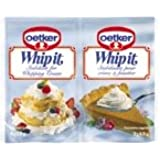 Dr. Oetker Whip It, Stabilizer for Whipping Cream, 2- 0.35oz Packets