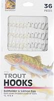 Danielson Hooks Snelled Trout 36Pk Fishing Equipment