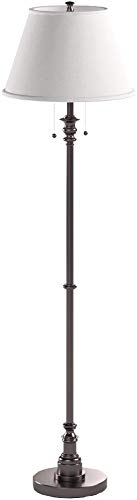Kenroy Home Floor Lamp with Bronze Finish, Dual On/Off Pull