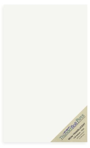 50 Soft Off-White Translucent 17# Thin Sheets - 8.5