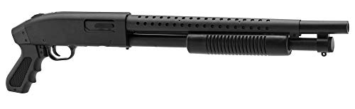 Pack complet Airsoft M500 Court/Fusil à Pompe à Ressort/métal-ABS/Rechargement Manuel (0.5 Joule)-Livré avec Accessoires 5