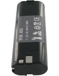 7.2V Ni-MH Batterie type AEG AL7 2500mAh