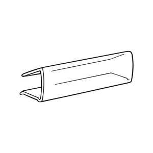 Clear Shelf Label Holders 2 7/8 X 7/8 Bag of (Label Clip)