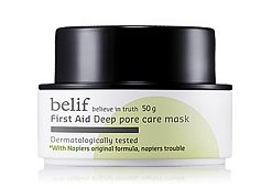 KOREAN COSMETICS, LG Household & Health Care_ belif, First Aid - Deep Pore Care Mask (50g , skin convergence, deep cleansing)[001KR]