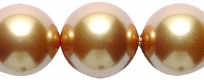 (Swarovski 5810 Crystal Round Pearl Beads, 10mm, Bright Gold, 10-Pack)