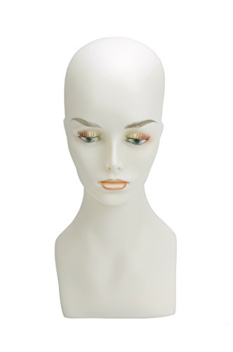 Wig Display Female Mannequin Head 15 Inch Wig,Hat,Sun glasses, Jewlery Display