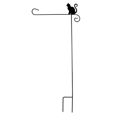 Briarwood Lane Wrought Iron Cat Garden Flag Stand 40