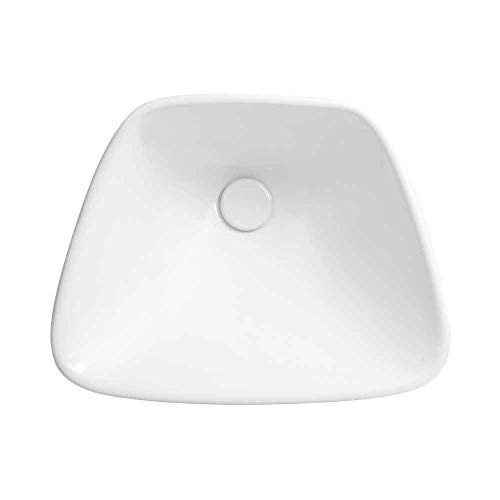 """19"""" Trapezoid Ceramic Drop-in Vessel with out Overflow in White"""