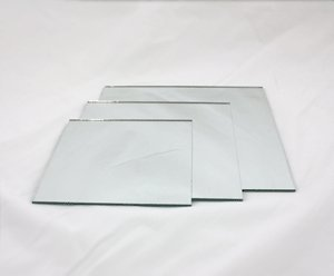 Amazon Com Mirror Squared Sanded Edge Diameter 12 Quot 12 Pieces Mirsqr12 Kitchen Amp Dining
