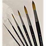 Dynasty Faux Kolinsky Series 1114 - Round Brush (Short Handle) - Size 5 (one brush) by Faux Kolinsky by Dynasty