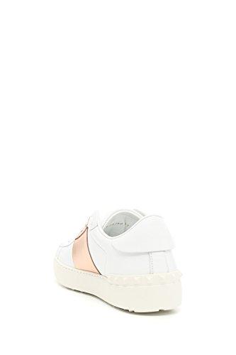 bianco ROCKSTUD rame 833 donna Garavani sneakers 38 Valentino in pelle PW2S0781FLR scarpe pzwqRB