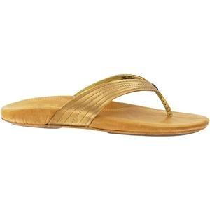 OluKai Wana - Womens Leather Comfort Sandals Bronze/Sahara - 6 by OluKai