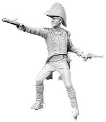 アンドレアミニチュア S7-A9 射撃中のナポレオン軍将校( 1815年 )