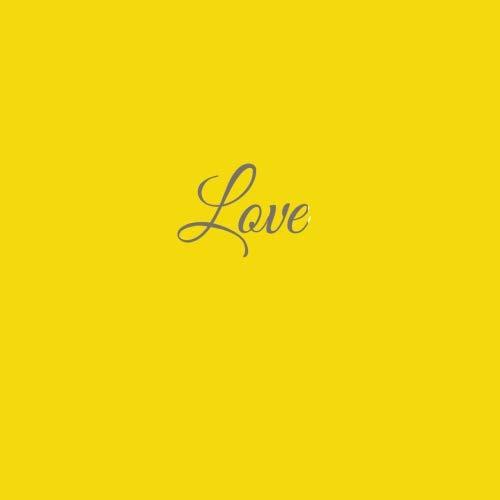 Libro De Visitas Love para bodas decoracion accesorios ideas regalos matrimonio eventos firmas fiesta hogar invitados boda 21 x 21 cm Cubierta Amarillo: ...