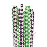Fun Express Mardi Gras Paper Straws