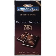 - Ghirardelli Twilight Delight Intense Dark Gourmet Chocolate Bar, 3.5 Ounce - 12 per case.