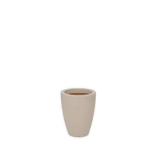 Vaso Malta Cone 25 X 32 cm Vasart Areia Granito