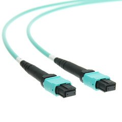 Dealsjungle Plenum Fiber Optic Cable, MTP / MTP (MPO), Multimode, Duplex, 12 Strand, 40/100 Gbps, 50/125, 30 meter (98.4 foot)
