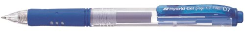(Pentel Hybrid Gel Grip Pen Retractable 0.7mm Tip 0.35mm Line Blue Ref K157C [Pack of 12])