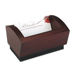 ROL19386 - Rolodex Executive Woodline II Business Card Holder for 100 2 1/4 x 4 Cards - Executive Business Card Holder