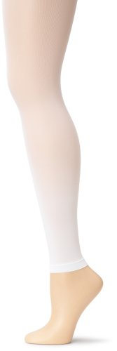Capezio Women's Ultra Soft Footless Tight,White,Large/X-Large (White Tights Footless)