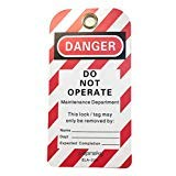 Lockout Isolation Tags - PVC Danger Tags